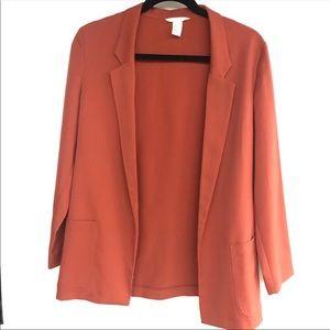 H&M | Burnt Orange Light Blazer A6